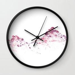 Mount Mythen mountainsplash pink Wall Clock