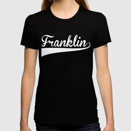FRANKLIN Baseball Vintage Retro Font T-shirt