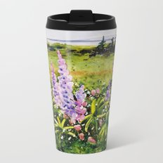 Lupines of Nova Scotia Metal Travel Mug