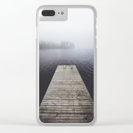 Fading into the mist Clear iPhone Case