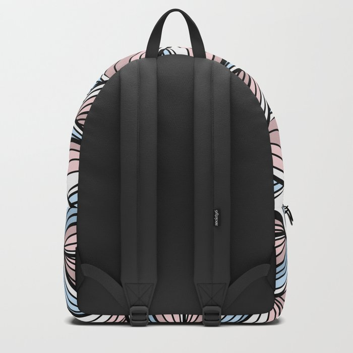 Thread pink blue Backpack