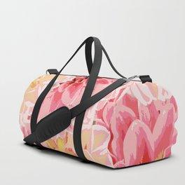 Big pastel flowers Duffle Bag