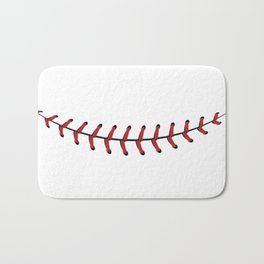 Baseball Lace Smile Bath Mat