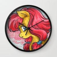 pony Wall Clocks featuring Pony by Pepacs