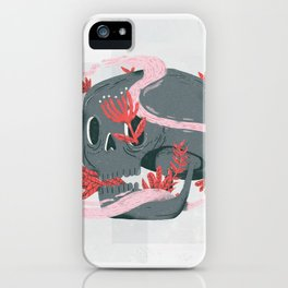 death and silence iPhone Case