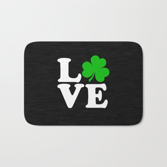 Love with Irish shamrock Bath Mat