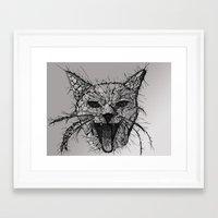 broken Framed Art Prints featuring Broken by Tummeow