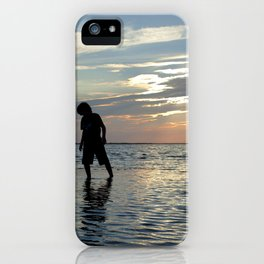 Watercolor People in Nature, NSS, Children 12, Janes Island, Maryland iPhone Case
