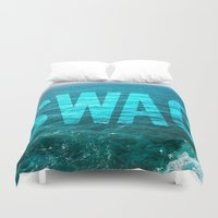 swag Duvet Covers featuring SWAG by MICKEY FICKEY GALLERY