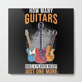 Guitarist Gift Guitar Metal Print