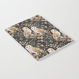 Wooden Wonderland Barn Owl Collage Notebook
