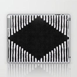 Diamond Stripe Geometric Block Print in Black and White Laptop & iPad Skin