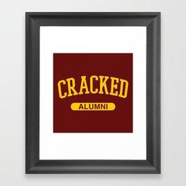 Cracked Alumni Framed Art Print