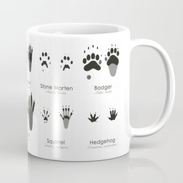 Infographic Guide for Animal Tracks (Hidden Tracks) Coffee Mug