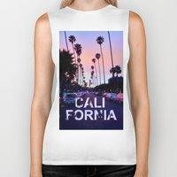 "california Biker Tanks featuring CaliforniA by ""CVogiatzi."