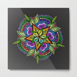 Flowers Mandala Metal Print