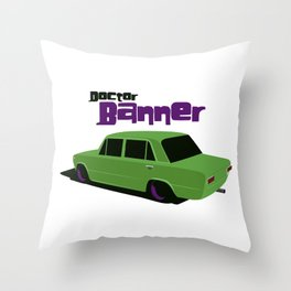 Doctor Banner Throw Pillow