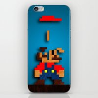 tetris iPhone & iPod Skins featuring Mario Tetris by Darthdaloon