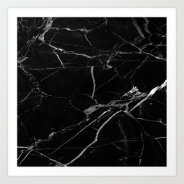 modern black marble look Art Print