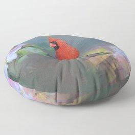 Cardinal Morning Floor Pillow