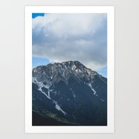 Clouds over the Mountain // Landscape Photography Art Print