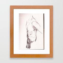 Torso Occlusion Framed Art Print