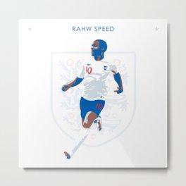 Raheem Sterling - Rahw Speed Metal Print