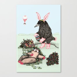 Crow Serie :: Easter Crow Canvas Print
