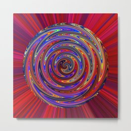 Swirly Twirly Colorful Lollipop Metal Print