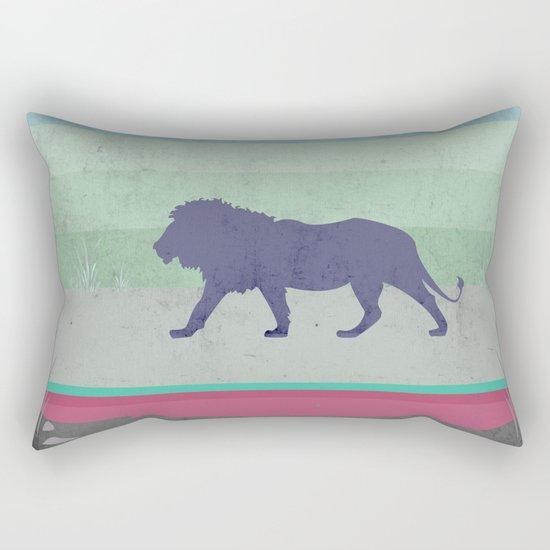 Lions are big kitties  Rectangular Pillow