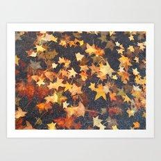 Earth Stars Art Print