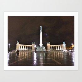 Budapest Hero's Square Art Print