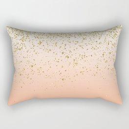 Classy faux gold confetti blush gradient image Rectangular Pillow