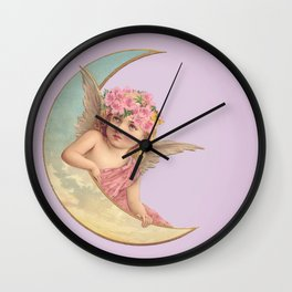 Victorian Moon Angel Wall Clock