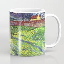 Van Gogh Enclosed Field with Rising Sun Coffee Mug