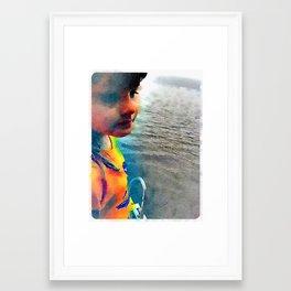 Maine Lake Morning Framed Art Print
