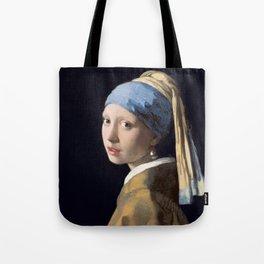 Girl with a Pearl Earring, Johannes Vermeer, 1665 Tote Bag
