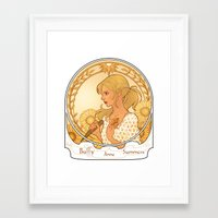 buffy Framed Art Prints featuring Buffy Summers  by Morgane Grosdidier de Matons