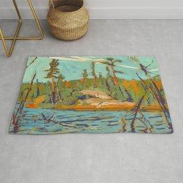 Moose Lake, Algoma, 1920, McMichael Canadian Art J.E.H. MacDonald Rug