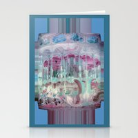 carousel Stationery Cards featuring Carousel by Heidi Fairwood