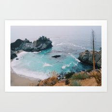 Big Sur blue Art Print