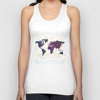 map Tank Tops featuring Map by famenxt