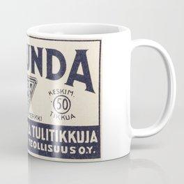 Old Matchbox label #1 Coffee Mug