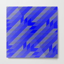 Blue and yellow pattern Metal Print