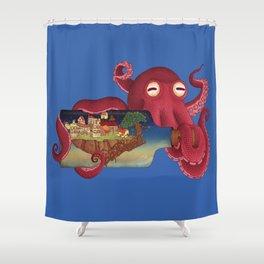 World in bottle: Atalantis (Octopus - monster) Shower Curtain
