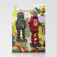 robots Stationery Cards featuring Robots by Five Ate Five Studios