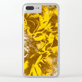 Yellow Rose Watercolor Clear iPhone Case