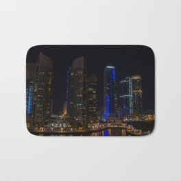 Dubai Marina waterways Bath Mat
