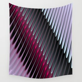 Stripey Pins Fuschia and Grey- Fractal Design Wall Tapestry