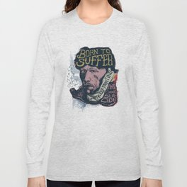 Van Gogh Typography Drawing Long Sleeve T-shirt